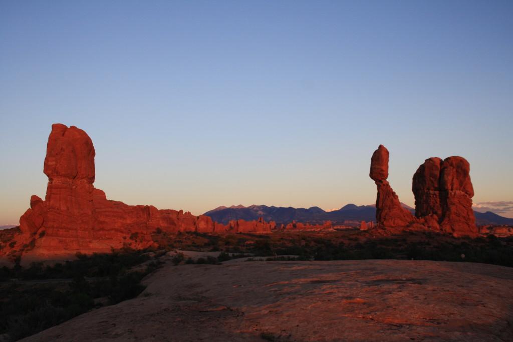 Arches zonsondergang